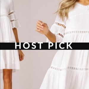 🌺HP spring trends Perfect Little White Dress